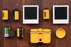 Película de la foto con los marcos de la foto Fotos de archivo libres de regalías