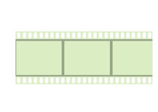 Película de Negativ Imagenes de archivo