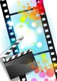 Película de películas y fondo de la tarjeta de chapaleta Imágenes de archivo libres de regalías
