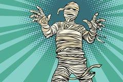 Película de terror egipcia y Halloween de la momia del vintage ilustración del vector