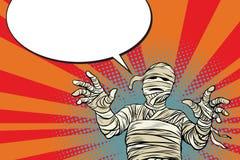Película de terror egipcia y Halloween de la momia del vintage libre illustration