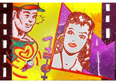 película del amor del día de tarjetas del día de San Valentín Imagenes de archivo