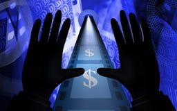 Película del dólar de la visión Imagen de archivo