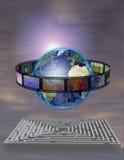 Película del mundo con laberinto stock de ilustración