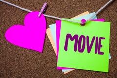 Película del texto de la escritura de la palabra Concepto del negocio para el vídeo cinematográfico de la película del cine o de  Fotos de archivo