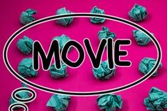 Película del texto de la escritura de la palabra El concepto del negocio para el vídeo cinematográfico de la película del cine o  Foto de archivo libre de regalías
