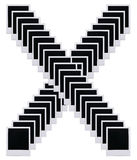A película do Polaroid anula a letra X Imagem de Stock Royalty Free