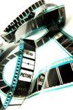 Película em branco do cinema da celulóide foto de stock