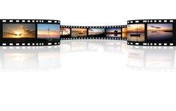 Película em um branco Foto de Stock Royalty Free