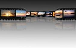 Película em um branco Fotografia de Stock Royalty Free