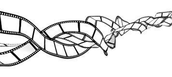 Película en blanco enredada Fotografía de archivo