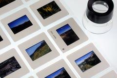 Película en el rectángulo ligero Foto de archivo libre de regalías