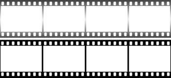 Película fotográfica en la forma de bastidor en el fondo blanco fotografía de archivo libre de regalías