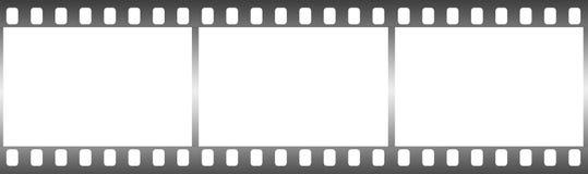 Película fotográfica en la forma de bastidor en el fondo blanco imagen de archivo libre de regalías