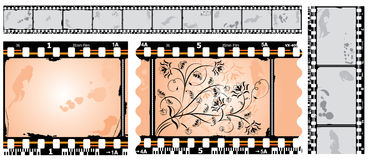 Película fotográfica, filmstrip, vetor Imagens de Stock Royalty Free