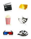 Película, jogo do ícone Fotografia de Stock Royalty Free
