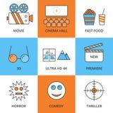 Película linear del icono del vector común Libre Illustration