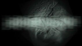película médica de la tecnología de la investigación científica 4k, insecto del terror, enfermedad infecciosa ilustración del vector