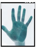 Película negativa da mão ilustração do vetor