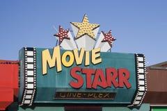 Película Starr Cinema Logo, Canvey Island, Essex, Inglaterra imagenes de archivo