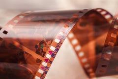 Película torcida 35 milímetros vieja foto de archivo libre de regalías