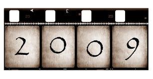 Película vieja con 2009 Foto de archivo libre de regalías