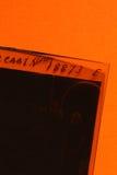 Película vieja de 35m m Imagen de archivo libre de regalías