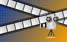 Película y camara Imagen de archivo libre de regalías