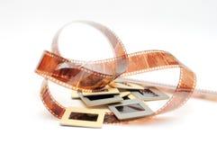 Película y diapositivas Imagen de archivo libre de regalías