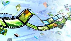 Película y fotos ilustración del vector