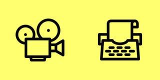 Película y máquina de escribir Foto de archivo libre de regalías