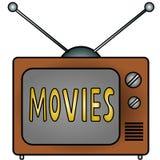 Películas de la TV Foto de archivo libre de regalías