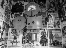 Películas del vintage del superventas de viejas épocas Foto de archivo libre de regalías