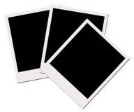 Películas do Polaroid (com trajeto de grampeamento) Fotografia de Stock