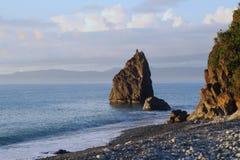 Pela costa de mar Imagens de Stock Royalty Free