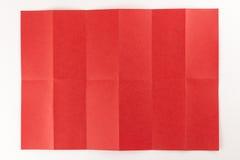 2 pela página de 6 vermelhos Imagem de Stock