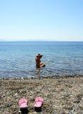 Pela praia Fotografia de Stock Royalty Free
