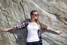 Pela rocha Fotografia de Stock