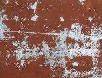 Peladura de la pintura de Brown de la superficie de metal abstraiga el fondo Fotografía de archivo