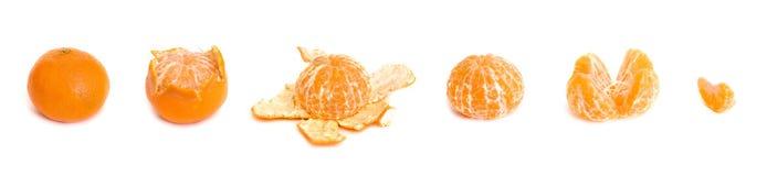 Peladura de una mandarina Imagen de archivo
