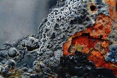 Peladura del metal oxidado fotografía de archivo