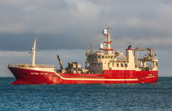 Pelagic fishing Vessel. Icelandic offshore commercial pelagic fishing vessel royalty free stock images