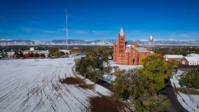 Pelare av brand i Westminster Colorado Arkivfoto