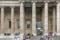 Pelare av British Museum royaltyfria foton