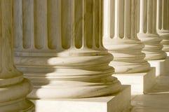 pelare för täta kolonner upp Fotografering för Bildbyråer