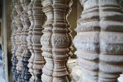 Pelare som buktar Angkor Wat Royaltyfria Foton