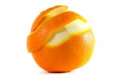 Pelatura dell'arancia Fotografia Stock Libera da Diritti