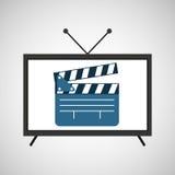 Película de la chapaleta de la película de la pantalla TV Imagen de archivo libre de regalías