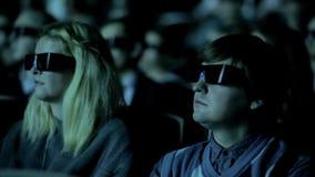 Película del reloj 3D de la gente almacen de metraje de vídeo