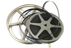 película y carrete de película de 8m m Foto de archivo